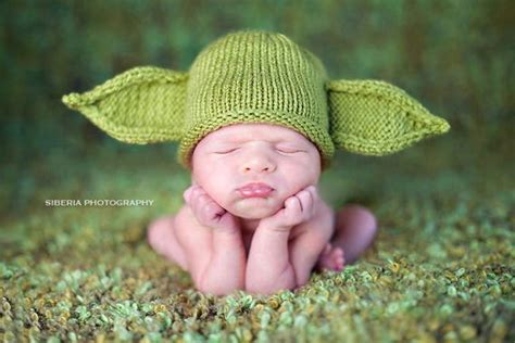 And omg i almost cried just thinking that mando and the child would split off. Green Yoda Baby Hat