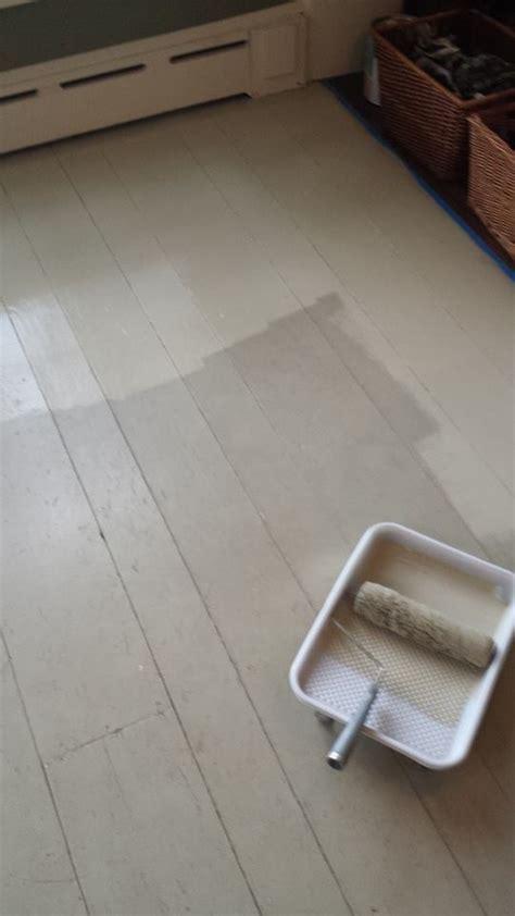 Hometalk   $4.39 Foyer Painted Floor Makeover
