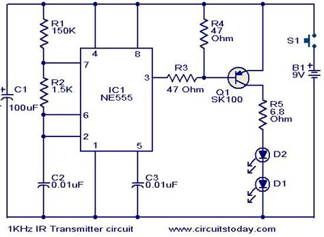 Khz Transmitter Circuit Electronic Circuits
