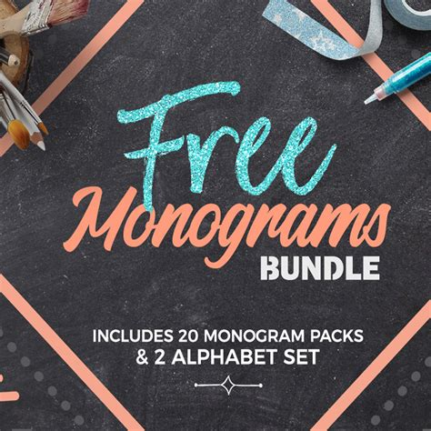 svg monogram bundle
