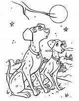 101 Coloring Dalmatians Pages Coloringpages1001 sketch template