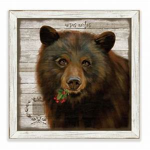 enchanted forest framed art bear With kitchen cabinets lowes with enchanted forest wall art