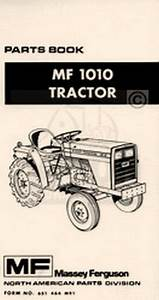 Massey Ferguson Mf 1010 Tractor Parts Book Manual