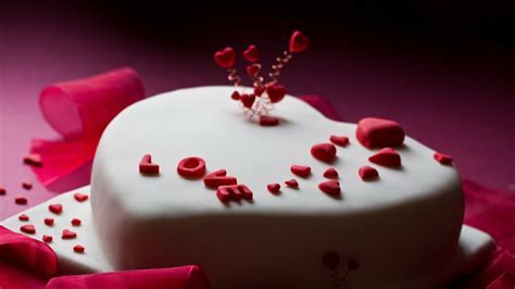Full HD Wallpaper valentines day inscription cake, Desktop