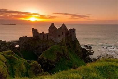 Ireland Castle Irish Coast Sea Dunluce Ruins