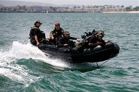 Zodiac Boat Training by Navy Seals Zodiac Combat Rubber Raiding Craft