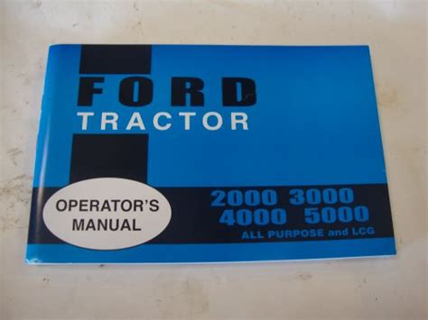 ford tractor owners manual tractor