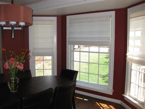 roman shades contemporary dining room seattle