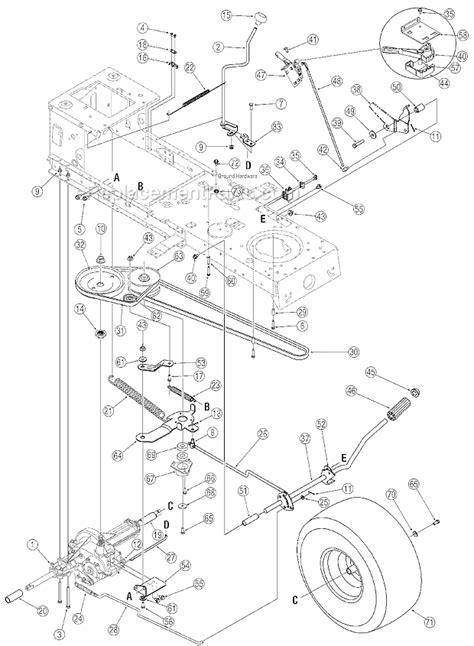 troy bilt bronco drive belt diagram troy bilt 13ao77tg766 parts list and diagram 2006
