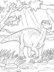 gambar mewarnai dinosaurus  anak paud  tk