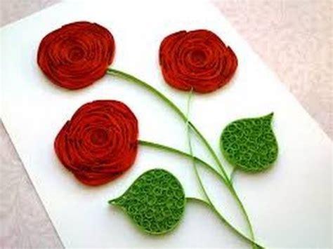 origami quilling rose diy paper craft  youtube