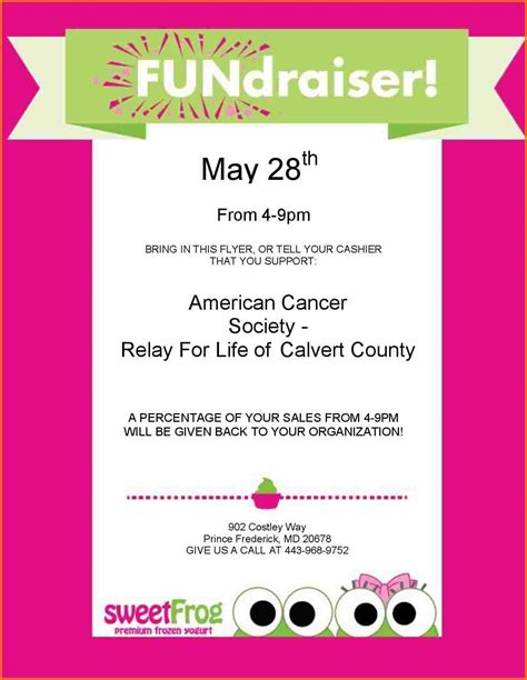 fundraiser flyer template free fundraiser template authorization letter pdf
