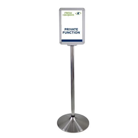 the l stand coupon free standing reception sign stand discount displays