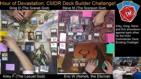 deck builders toolkit hour of devastation match 1 commander deck building challenge hour of