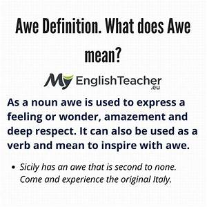 Awe, Definition, What, Does, Awe, Mean