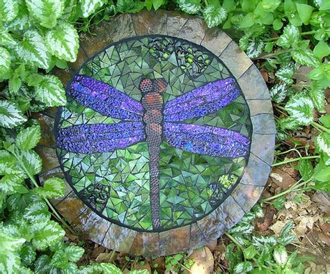 mosaic dragonfly stepping flickr photo