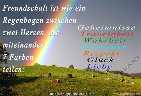 freundschaft ist wie ein regenbogen orginelles spr 252 che