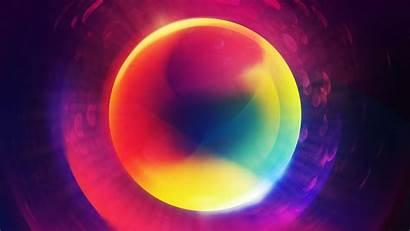 4k Glowing Colorful Ultra Orb Desktop Desktopwalls
