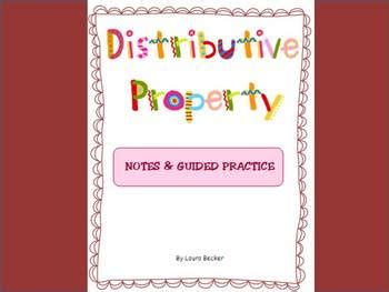 distributive property intro notes worksheet common