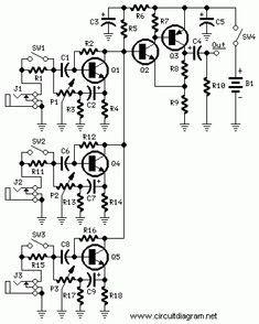 Multi Channel Audio Mixer Circuit Using