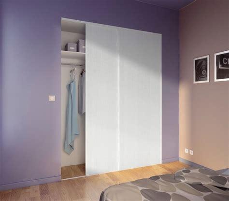 lot de 2 portes coulissantes blanches h 250 cm l 120 cm