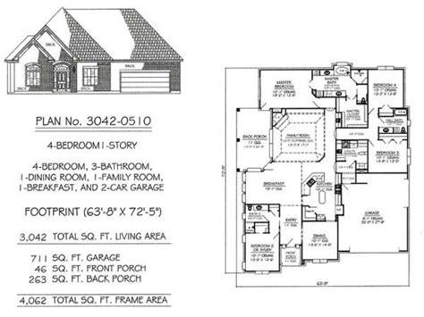 Custom 3 Bedroom House Floor Plans 3-bedroom Craftsman