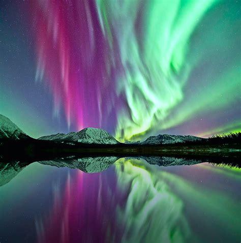 Landscape Canada Aurora Borealis Yukon Nubbsgalore