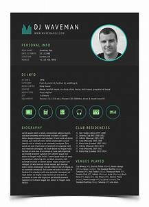 Tools4dj promotional print templates for dj39s and for Dj biography template