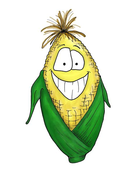 cute cartoon corn