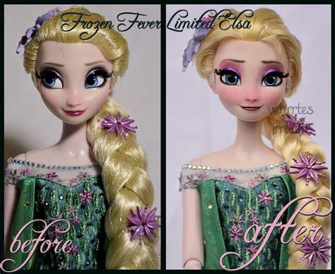und elsa le repainted ooak frozen fever limited edition elsa by verirrtesirrlicht on deviantart