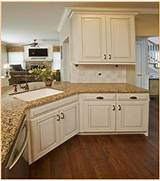 Kitchen Cabinets And Counters Picture Of Antique White Kitchen Cabinets With Granite Countertops
