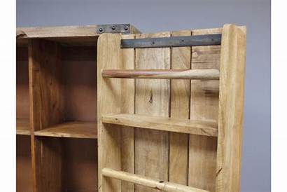 Cabinet Wooden Storage Drinks Rustic Industrial Burnsall