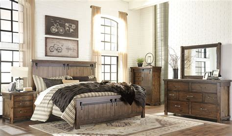 lakeleigh brown panel bedroom set  ashley coleman