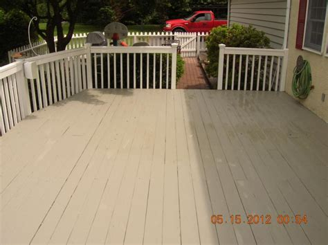 Restaining A Deck With Solid Stain by Andrew Vilcheck Deck Painting