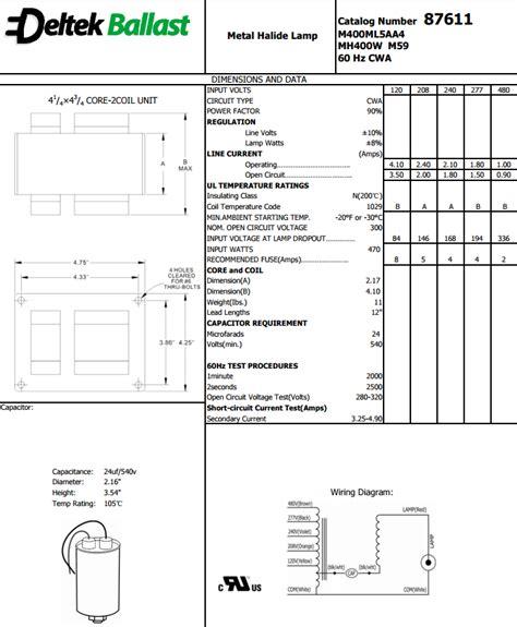 Metal Halide Ballast Watt Multi Tap