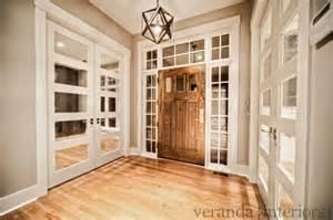 Restoration Hardware Mirrored Bath Accessories by Mirrored Doors Country Entrance Foyer Veranda Interiors