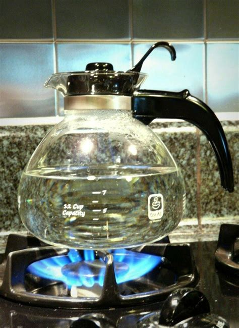 stove kettle glass whistling cup tea gas pot modern water coffee kitchen
