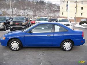 2002 Pacific Blue Metallic Mitsubishi Mirage De Coupe