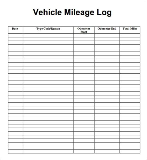 13 sle mileage log templates to download sle templates