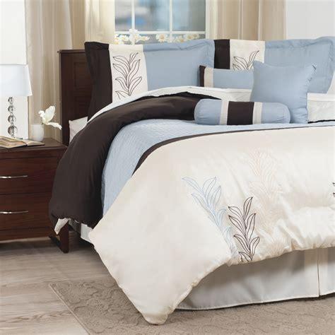 embroidered comforter set lavish home 7 embroidered comforter set