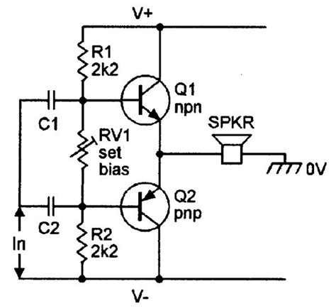 Basic Class Amplifier With Complementary Emitter