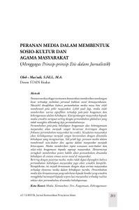 islam dan dakwah: sebuah kajian antropologi agama