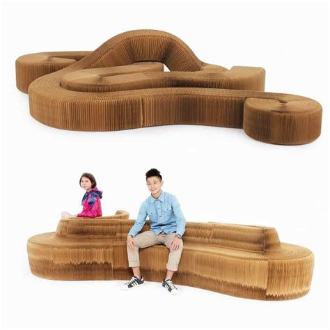concertina design paper chairsofa  hold