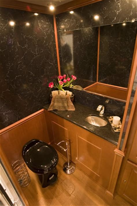 luxurious mobile restroom trailer rental  long island