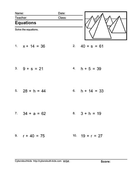 Solving Multi Step Equations Worksheet 8th Grade  This Worksheet Includes 25 Multi Step