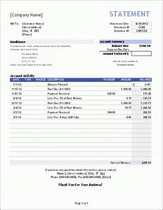bill statement template mughals With free invoice statements