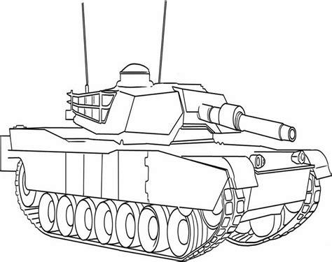 gambar mobil tank untuk mewarnai