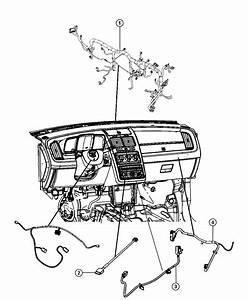 2013 Dodge Journey Wiring  Overlay  Cabin Heater  Export   Instrument Panel Parts Module