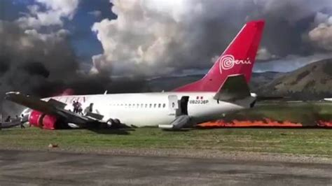 Footage As Plane Bursts Into Flames