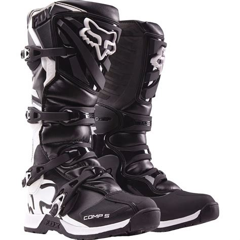 motocross boots size 5 fox racing youth black kids comp 5 dirt bike boots